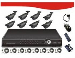 "Signageit 8ch Combo Kits, Includes 8*1/ 4""sharp 3.6mm Rj2421fa Ccd 420tv Line, Pal:500(h)x582(v)"