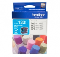 Brother LC-133C Cyan Ink 600pages, MFC-J4410DW, J4510D COB-LC133C