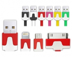 Powerhousepc 3in1 Usb Charger/ Data Cable Adapter For Apple/ Samsung Mobezc5002iph3h