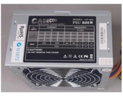 Casecom Power Supply 600w Psu 3*ide+20-4pin+3*s, 2yr Warranty Atx600w