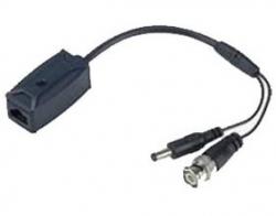 Rj45 Output To Passive Video Barun With Video(bnc) & 12 Vdc Power Plug(male). S/cam/kttp111vp-l