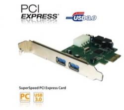 Ezcool 4 Port Usb3.0 Pci-expresses Card (2 External Port + Dual Port Internal Connector) Usbjuspcie4usb3.0