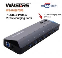 Winstars Usb3.0 7 Ports Hub Plus 2 Extra 2.4a Fast-charging Ports Usbwin3073p2u3p9