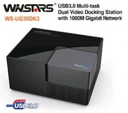 Winstars Usb3.0 Multi-task Dual Video Docking Station With 1000m Gigabit Network Usbwinug39dk3
