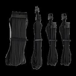 Corsair - Black Premium Individually Sleeved PSU Cables Starter Kit Type 4 Gen 4 White CP-8920215