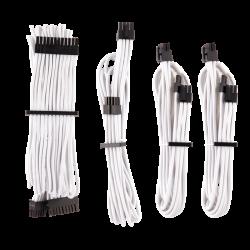 Corsair - WHITE Premium Individually Sleeved PSU Cables Starter Kit Type 4 Gen 4 White CP-8920217