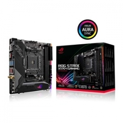 ASUS AMD X570 mini-ITX Gaming motherboard with PCIe 4.0, Aura Sync RGB, Intel Gigabit Ethernet, Wi-Fi 6 (802.11ax), M.2 Audio Combo Card (90MB1140-M0UAY0)