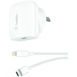 Belkin Boostup 20W Usb-C Pd Wall Charger + Usb-C To Lightning Cable WCA003AU04WH