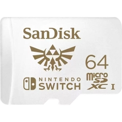 SANDISK AND NINTENDO COBRANDED MICROSDXC SQXAT 64GB U3 C10 UHS-1 100MB/S R 60MB/S
