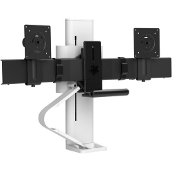 Ergotron TRACE Desk Mount for Monitor, LCD Display - White - 2 Display(s) Supported - 45-631-216