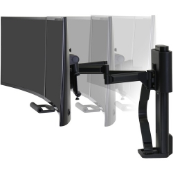Ergotron TRACE Desk Mount for Monitor, LCD Display - Matte Black - 2 Display(s) Supported - 45-631-224