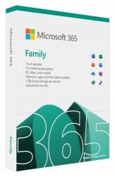 MICROSOFT 365 FAMILY, RETAIL BOX - 1 YEAR SUBSCRIPTION  6GQ-01554