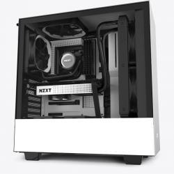 NZXT CA-H510B-W1 Mid-Tower Case: H510 - Matte White 2x 120mm Fans, 1x USB 3.1, 1x USB Type-C,
