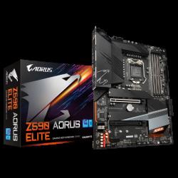 Gigabyte Z590 AORUS ELITE 1.0 MB Z590 ATX: Socket 1200 For Intel 11th/10th Gen. Processors 4x DDR4, 6x SATA 6Gb/s,
