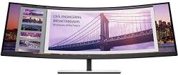 "HP S430c 43.4"" WUXGA Curved Ultrawide Monitor LED, 32:10, 350N, 3840X1200, 3000:1, 5MS, DP, HDMI, 3YR 5FW74AA"
