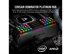 Corsair DDR4, 3600MHz 32GB 2x16GB DIMM, Unbuffered, 18-22-22-42, XMP 2.0, Dominator Platinum RGB Black Heatspreader, RGB LED, 1.35V (CMT32GX4M2D3600C18)