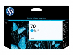 HP 70 130-ML CYAN INK CARTRIDGE - Z2100/3100/Z5400/Z5200  C9452A