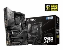MSI MEG Z490 UNIFY DDR4 ATX M.2 SATAIII RAID 10th Gen LGA1200 3xPCIE CROSSFIRE WIFI 6 MU-MIMO FROZR Extreme Power Triple Turbo M.2 Non-RGB (MEG Z490 UNIFY)