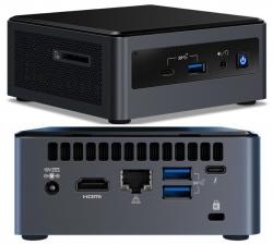 Intel NUC mini PC i3-10110U 4.1GHz 2xDDR4 SODIMM 2.5' HDD M.2 PCIe SSD HDMI USB-C (DP1.2) 3xDisplays GbE LAN WiFi BT 6xUSB DS POS (BXNUC10I3FNH4)