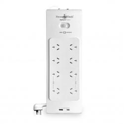 PowerShield PSZ8U2 ZapGuard 8 Way Power Surge Filter Board, USB A/ C Connectors, Wide Spaced Sockets, Wall Mountable (PSZ8U2)