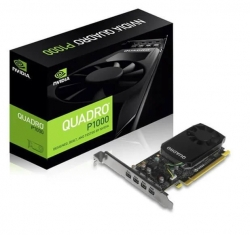 NVidia Quadro P1000 PCIe Workstation Card 4GB DDR5 4xmDP 4x5120x2880@60Hz 128-Bit (P1000-P)