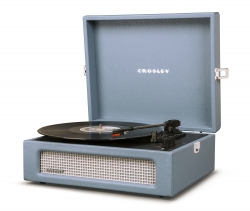 Crosley Voyager Portable Turntable - Washed Blue CRIW8017A-WB4