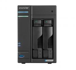 Asustor AS6602T 2 Bay NAS Intel Celeron J4125 2.0GHz 4GB DDR4 8GB eMMC 2xGbE HDMI 3xUSB3 2xeSATA 2xGbE WoL S/PDF