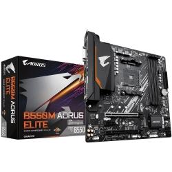 Gigabyte B550M AORUS ELITE AMD Ryzen M-ATX Motherboard 4xDDR4 4xSATA 2xM.2 LAN RAID HDMI DVI-D 2xPCIEx16 4xUSB3.2 6xUSB2.0