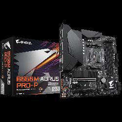Gigabyte B550M AORUS PRO-P AMD Ryzen M-ATX Motherboard,10+2 Phases Digital Twin Power Design, PCIe 4.0 x16, 2x M.2, LAN, Q-Flash Plus