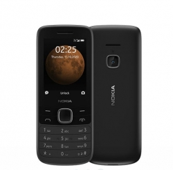 Nokia 225 4G Black- 2.4' Display, Unisoc T117 CPU, 64MB ROM,128MB RAM,  16QENB21A17