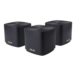 ASUS ZenWiFi AX Mini XD4 AX1800 Wifi 6 Dual-Band Whole-Home Mesh Routers For Large Homes, 2xAntenna, Up To 306sqm, Black (2 Pack)