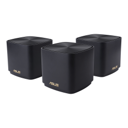 ASUS ZenWiFi AX Mini XD4 AX1800 Wifi 6 Dual-Band Whole-Home Mesh Routers For Large Homes, 2xAntenna, Up To 445sqm, Black (3 Pack)