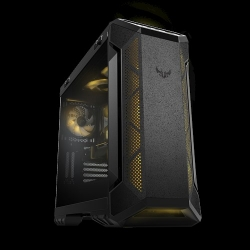 ASUS GT501 TUF GAMING CASE Grey ATX Mid Tower Case With Handle, Supports EATX, Tempered Glass Panel, 4 Pre-Installed Fans 3x120mm RBG 1x140mm PWN (GT501 TUF GAMING CASE/GRY/WITH HANDLE)
