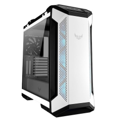 ASUS GT501 TUF GAMING CASE White ATX Mid Tower Case With Handle, Supports EATX, Tempered Glass Panel, 4 Pre-Installed Fans 3x120mm RBG 1x140mm PWN (GT501 TUF GAMING CASE/WT/HANDLE)