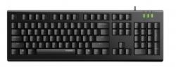 RAPOO NK1800 Wired Keyboard, Entry Level, Laser Carved Keycap, Spill-Resistant, Multimedia Hotkeys ~ KBLT-K120 (NK1800)
