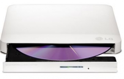 LG GP50NW40 Super-Multi Portable DVD Rewriter 8x DVD-R Writing Speed.TV Connectivity. M-DISC Support. Silent Play - White (GP50NW40)