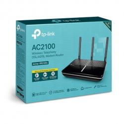 TP-Link Archer VR2100v AC2100 Wireless MU-MIMO VDSL/ADSL Telephony Modem Router VDSL2 Profile 35b Up To 1733Mbps, MU-MIMO, Whole Home, Voice Mail (Archer VR2100v)