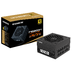 Gigabyte P1000GM 1000W ATX PSU Power Supply, 80+ Gold, Fully Modular, Black Flat Cables, Single +12V Rail, Japanese >100K Hrs (GP-P1000GM)