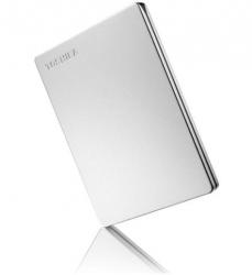 Toshiba 2TB CANVIO SLIM PORTABLE Silver Metallic HARD DRIVE STORAGE. 3 Years Warranty (HDTD310AS3DA)