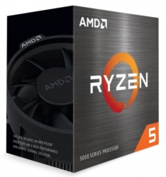 AMD Ryzen 5 5600X Zen 3 CPU 6C/12T TDP 65W Boost Up To 4.6GHz Base 3.7GHz Total Cache 35MB Wraith Stealth Cooler (100-100000065BOX)