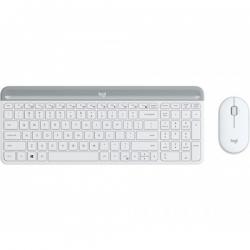 Logitech MK470 Slim Wireless Keyboard Mouse Combo Nano Receiver 1 Yr Warranty(L) --White (920-009183)