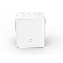 Tenda Nova MW3 1-pack AC1200 Whole-home Mesh WiFi System, 100 Square Meters, 867Mbps/300Mbps, MI-MIMO, SSID Broadcast, Beamforming (MW3(1-pack))