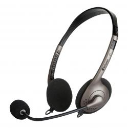 Verbatim Multimedia Headset with Boom Mic, Volume Control, USB - Graphite (66572)