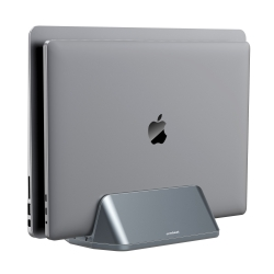 mbeat Stage S5 Adjustable Dual Bay Tablet, Laptop and MacBook Vertical Stand MB-STD-S5GRY