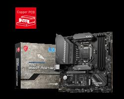 MSI MAG B560M MORTAR Intel mATX Motherboard, 4x DDR4 ~128GB, 2x PCI-E x16, 1x PCI-E x1, 6x SATAIII, 2x M.2, 1x USB-C, 3x USB 3.2, 4x USB 2.0