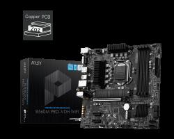 MSI B560M PRO-VDH WIFI Intel mATX Motherboard, 4x DDR4 ~128GB, 1x PCI-E x16, 2x PCI-E x1, 2x M.2, 6x SATAIII, 4x USB 3.2, 2x USB 2.0