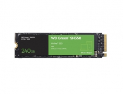 Western Digital WD Green SN350 240GB M.2 NVMe SSD 2400MB/s 900MB/s R/W 80TBW WDS240G2G0C