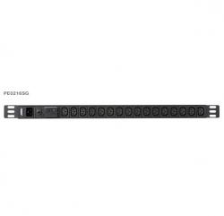 Aten 0U 16-port Basic PDU with Surge Protection, 100-240VAC, 16AMax, 50-60Hz, 16 x IEC C13, PE0216SG-AT-G