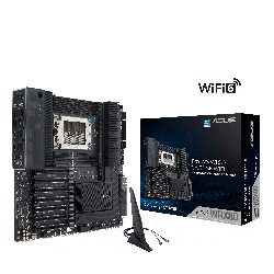 ASUS AMD PRO WS WRX80E-SAGE SE WIFI Workstation MB, Extended ATX, Intel Dual 10G LAN, WIFI6, BT5,
