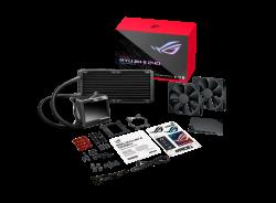 ASUS ROG RYUJIN II 240 All-In-One Liquid CPU Cooler, 3.5' LCD, Embedded Pump Fan, 2x Noctua PWM 120mm Radiatior Fans, AM4, TR4, LGA1150-6, 1200, 1366 (ROG RYUJIN II 240)